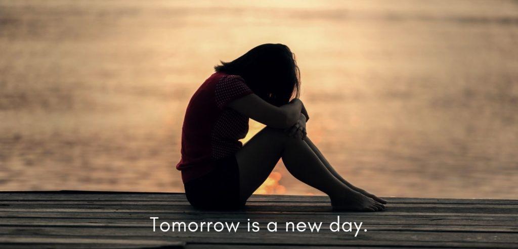 Tomorrow is a new day. Quelle: healthyfeelings.de - erstellt mit canva.com