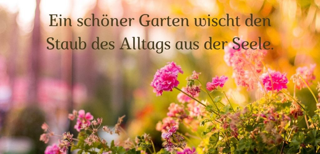 Ein schöner Garten wischt den Staub des Alltags aus der Seele. Bildquelle: healthyfeelings.de, erstellt mit canva.com