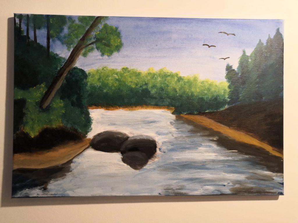 Fluss gemalt in Acryl. Bildquelle: healthyfeelings.de