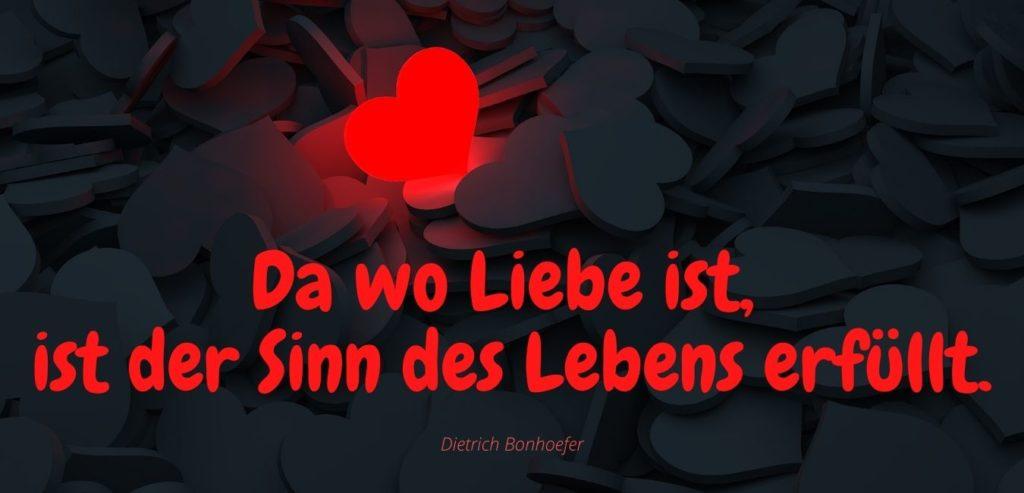 Da wo Liebe ist, ist der Sinn des Lebens erfüllt. Bildquelle: healthyfeelings.de - erstellt mit canva.com
